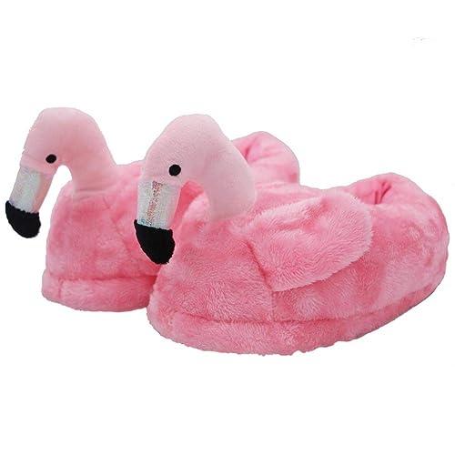 3c53bf13ab1c9 Animal Plush Slippers Flamingo Cotton Slippers