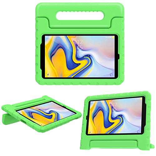 MoKo Case for Samsung Galaxy Tab A 8.0 2018 SM-T387, EVA Kids Shock Proof Convertible Handle Light Weight Protective Cover Compatible with Samsung Galaxy Tab A 8.0 Inch 2018 Release Tablet - Green