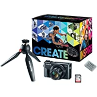 Canon PowerShot G7X Mark II Video Creator Kit - w/Manfrotto PIXI Mini Tripod, SanDisk 32GB SD Card Extra Canon Battery Pack