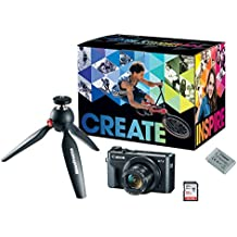 Canon PowerShot G7X Mark II Video Creator Kit - w/Manfrotto PIXI MINI Tripod, SanDisk 32GB SD Card, and extra Canon Battery Pack
