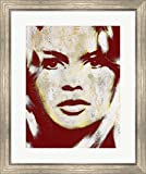 Brigitte Bardot by Andre Monet Framed Art Print Wall Picture, Silver Scoop Frame, 24 x 28 inches