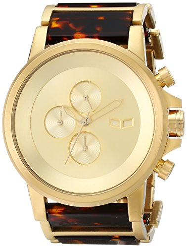 Vestal Men's PLA022 Plexi Acetate Analog Display Japanese Quartz Gold - Japanese Acetate