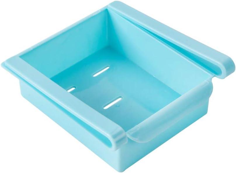 Pull-Out Multipurpose Refrigerator Storage Box - Food Fruit Fresh-Keeping Classified Organizer Container Basket, Drawer Type Fridge Shelf Holder, Space Saver Storage Kitchen Tools - Blue, 1 Pack