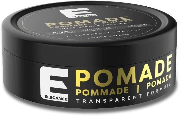 SADAPACK Élégance Pomada transparente - Cera capilar - Fijación súperfuerte - Brillo de larga duración - Remodelable - Perfume refrescante - 140 ml