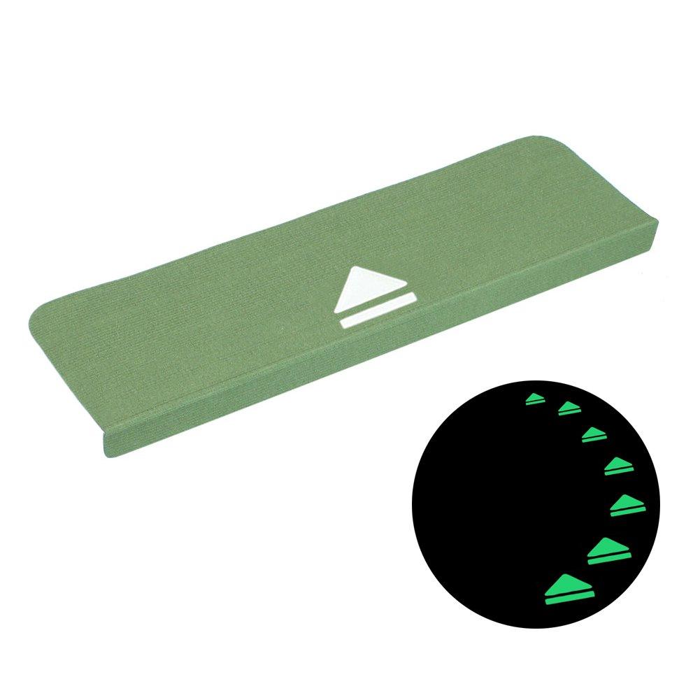 Fastar 5 Set di tappetini per Scale, Tappeto Antiscivolo, Notte Luminosa Pads, per Esterni e Interni (70 x 20.5 cm) Tappetino per Le Scale, Green, Verde per Esterni e Interni (70x 20.5cm) Tappetino per Le Scale