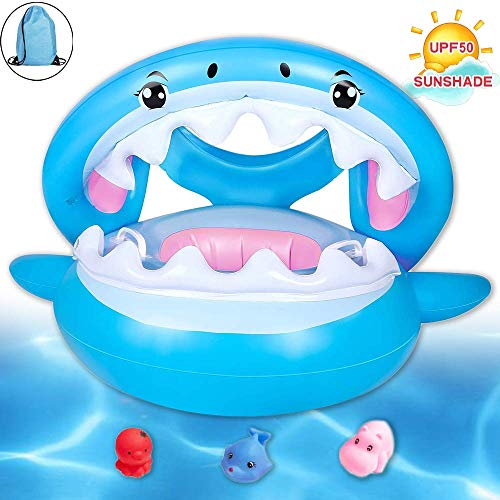 Brave Hours Shark Baby Inflatable Pool Float Swimming Ring