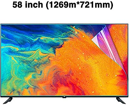 Anti-Blue Light Non-Glare Ultra-Clear Eye Protection Screen Filter for LCD OLED /& QLED 4K HDTV,1269x721mm LED BYCDD 58 Inches TV Screen Protector