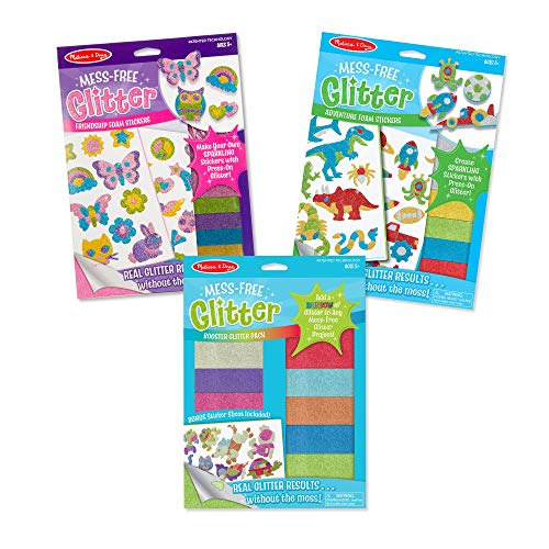 Melissa & Doug Mess-Free Glitter Stickers & Extra Sheets Value Pack (3 Set) (Renewed) ()