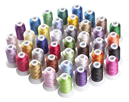 Simthread 40 Spool Polyester Embroidery Machine Thread Set B