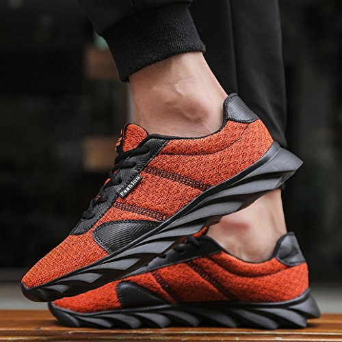 fasloyu Shoes Men's Fashion Light Sneakers Beathable Mesh Running Shoes Casual Shoes 43 KbqJJtlf0l