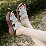 GAOLIM In The Summer, The Female Slippers To Wear And Versatile Sponge Cake Thick With Cool Slippers Slope Outdoor Field And