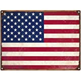 United States Flag Rusty Tin Sign
