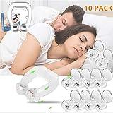 10 pack Antironquidos Clip Nasal Magnético, Dilatador Nasal para Detener los Ronquidos, Facilitar la Respiración y Dormir Cómodo (10pack)