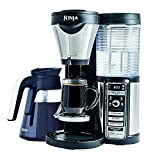 Ninja Coffee Maker for Hot/Iced Coffee with 4 Brew Sizes, Programmable Auto-iQ, Milk Frother, 43oz Glass Carafe, Tumbler and 100 Recipes (CF082) (Renewed)