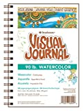 "Strathmore 400 Series Visual Watercolor Journal, 90 LB 5.5""x8"" Cold Press, Wire Bound, 34 Sheets"