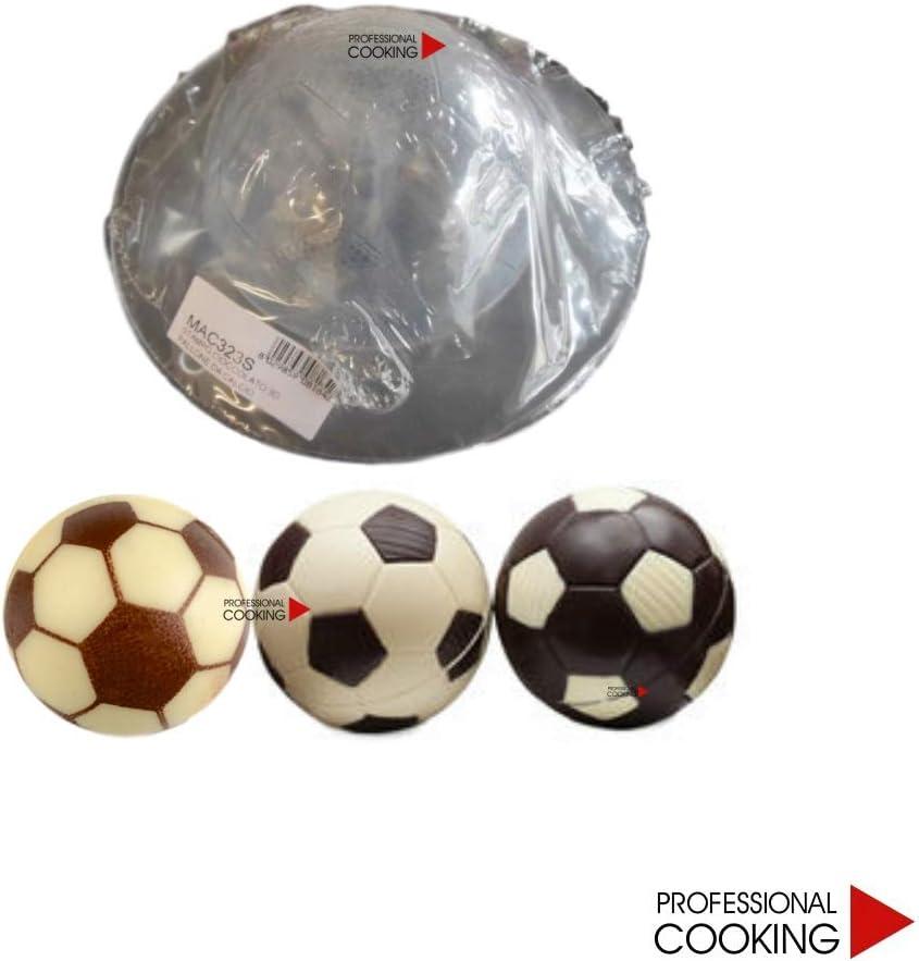 Molde de Chocolate plástico Profesional para balón de fútbol 3D cm ...