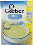 Gerber Cereal, Rice Single Grain with VitaBlocks, 16-Ounce Boxes (Pack of 6)