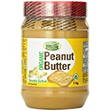 New World Foods Peanut Butter, Smooth Salted Organic, 1Kg