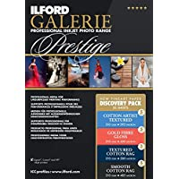 ILFORD 2004976 GALERIE Prestige Fine Art Discovery Pack - 8.5 x 11 Inches, 20 Sheets