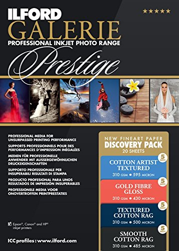 (ILFORD 2004976 GALERIE Prestige Fine Art Discovery Pack - 8.5 x 11 Inches, 20 Sheets)