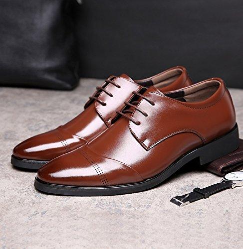Rosso Marrone Pelle Nero Elegante Derby Sera Brogue Cuoio Stringate Marrone Vintage Scarpe Verniciata Basse Oxford Uomo 37 47EU RqO646