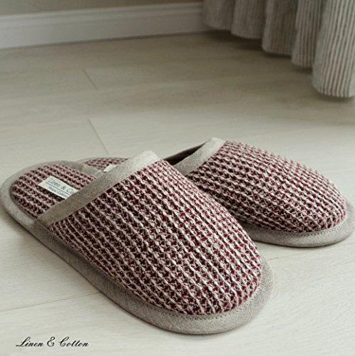 amp; Cotton Tigo Uomo Bordeaux Lino Pantofole Linen 100 donna dP7qdT