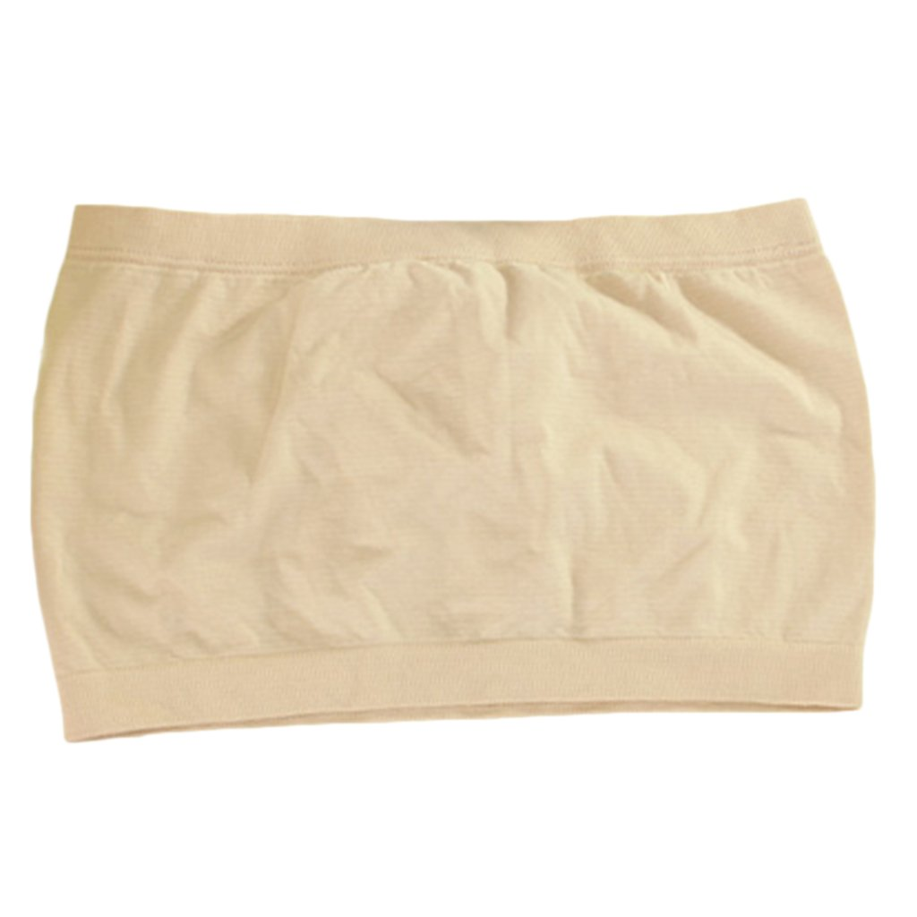 dc64fc81d9 Imported Seamless Strapless Bra Tube Top Without Padding - Beige  Amazon.in   Clothing   Accessories