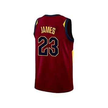 HANGESS Camiseta de Baloncesto para Hombre Lakers No.23 Lebron James Mesh Ropa Deportiva Transpirable de Secado Rápido para Hombres