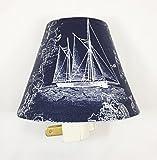 Sailboat Plug In Night Light / Nursery Decor / Baby Shower Gift / Home Decor / Kid's Room / Lighting / Hallway Light / Housewarming / Nautical