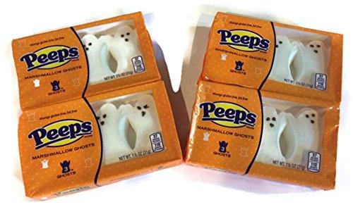 Halloween Peeps Marshmallow Ghosts (3 Ghosts per Package; Set of 4 -