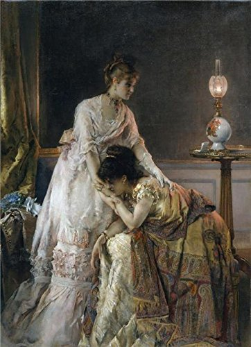 Perfect Effect Canvas ,the High Resolution Art Decorative Canvas Prints Of Oil Painting 'Alfred Stevens-After The Ball,1874', 24x33 Inch / 61x84 Cm Is Best For Hallway Decoration And Home Gallery Art And Gifts by RichardGallery