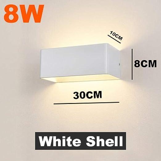 8W LED Sconce Bedside Light Aluminum Wall Mount Lamp Bedroom Hallway Corridor UK