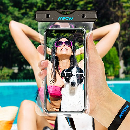 Mpow Universal Waterproof Case, IPX8 Waterproof Phone Pouch Dry Bag Compatible for iPhone X/8/8plus/7/7plus/6s/6/6s Plus Galaxy s8/s7 Google Pixel HTC10 (Clear 2-Pack)