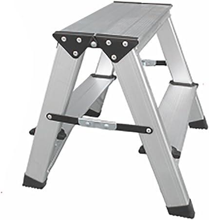 Qiansejiyijiajudengzi Silla Plegable Taburete de Escalera de Dos Pasos Escalera de Aluminio de aleación de Aluminio Taburete de la Plataforma portátil Alto Tobillo hogar: Amazon.es: Hogar