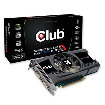 CLUB3D GeForce GTX 550Ti CoolStream OC Edition, 2GB GeForce ...