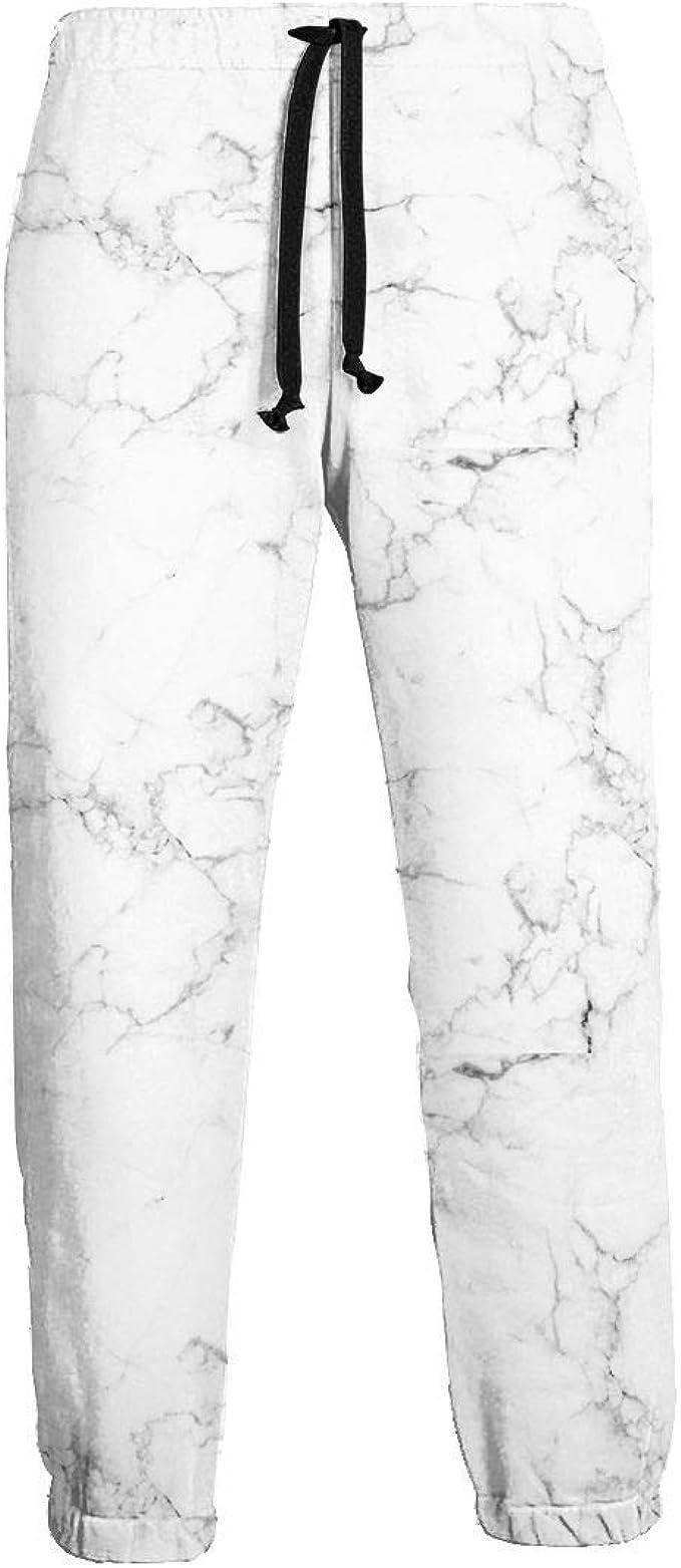 Pantalones Deportivos de Hombre con Textura de mármol Blanco ...