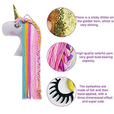 Unicorn Hair Clips Holder, Girl Women Fringe Hair Bows Headband Storage Organizer Unicorn Theme Party Decorations