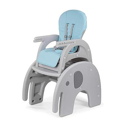 Baby Vivo Trona de bebe Silla para Niños con Bandeja Multifuncional Silla alta combinada Tableta Mesa para Niños - Elefante: Amazon.es: Bebé