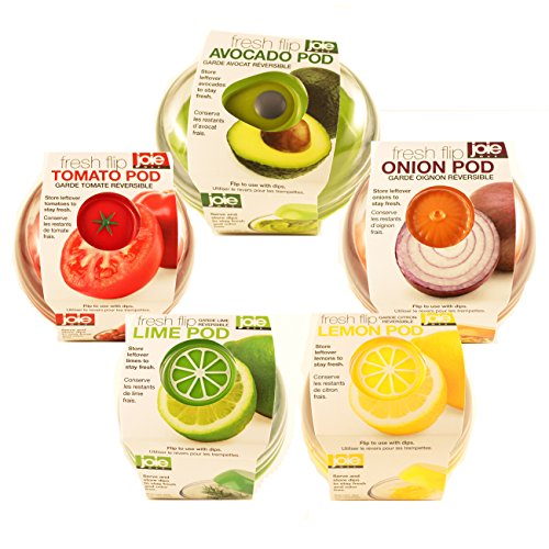 Produce Saver Container Set - Avocado, Tomato, Onion, Lime and Lemon Keeper ()