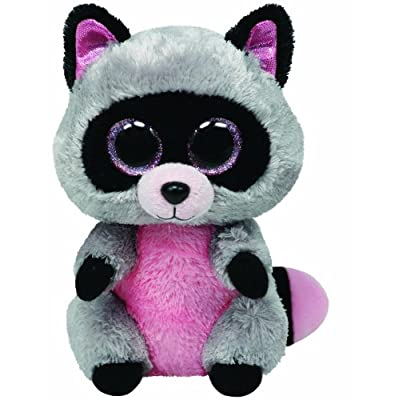 Ty Beanie Boos Buddies Rocco Grey Raccoon Medium Plush: Toys & Games