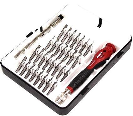 Cablematic - Destornillador de precisión 30 puntas intercambiables ...
