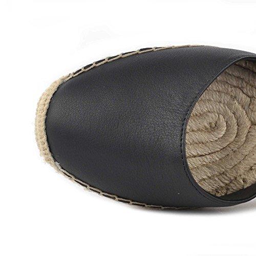 Ash Footwear Zapatos Whitney Bis Sandalias de Cuero Negro Mujer Black