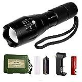 Best 007 Super Bright LED Flashlight,Tactical Flashlight High Lumen Zoomable Rechargeable Flashlight (flashlight set)