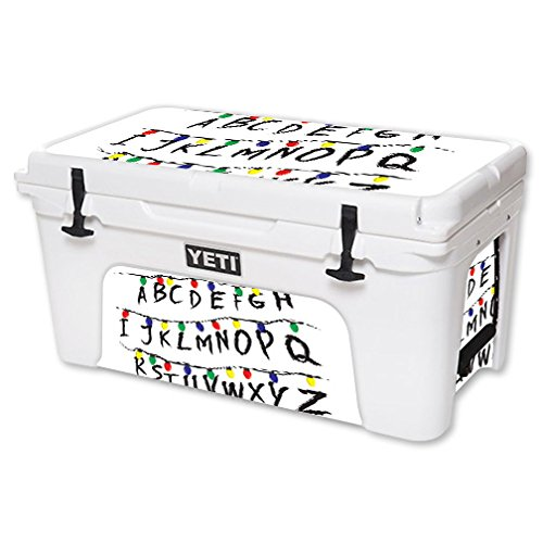 MightySkins Skin For YETI 65 qt Cooler - Stranger Alphabet | Protective, Durable, and Unique Vinyl Decal wrap cover | Easy To Apply, Remove, and Change Styles | Made in the USA by MightySkins