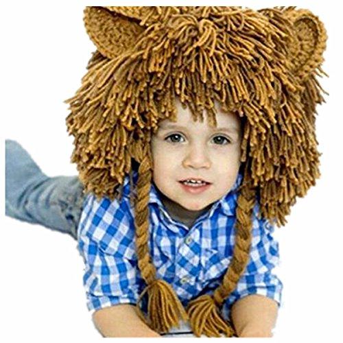 App Costume Ideas (Thanksgiving Day Halloween Turkey Lion Pumpkin Deer Baby Beanie Hat Photo Props (Large, Lion))