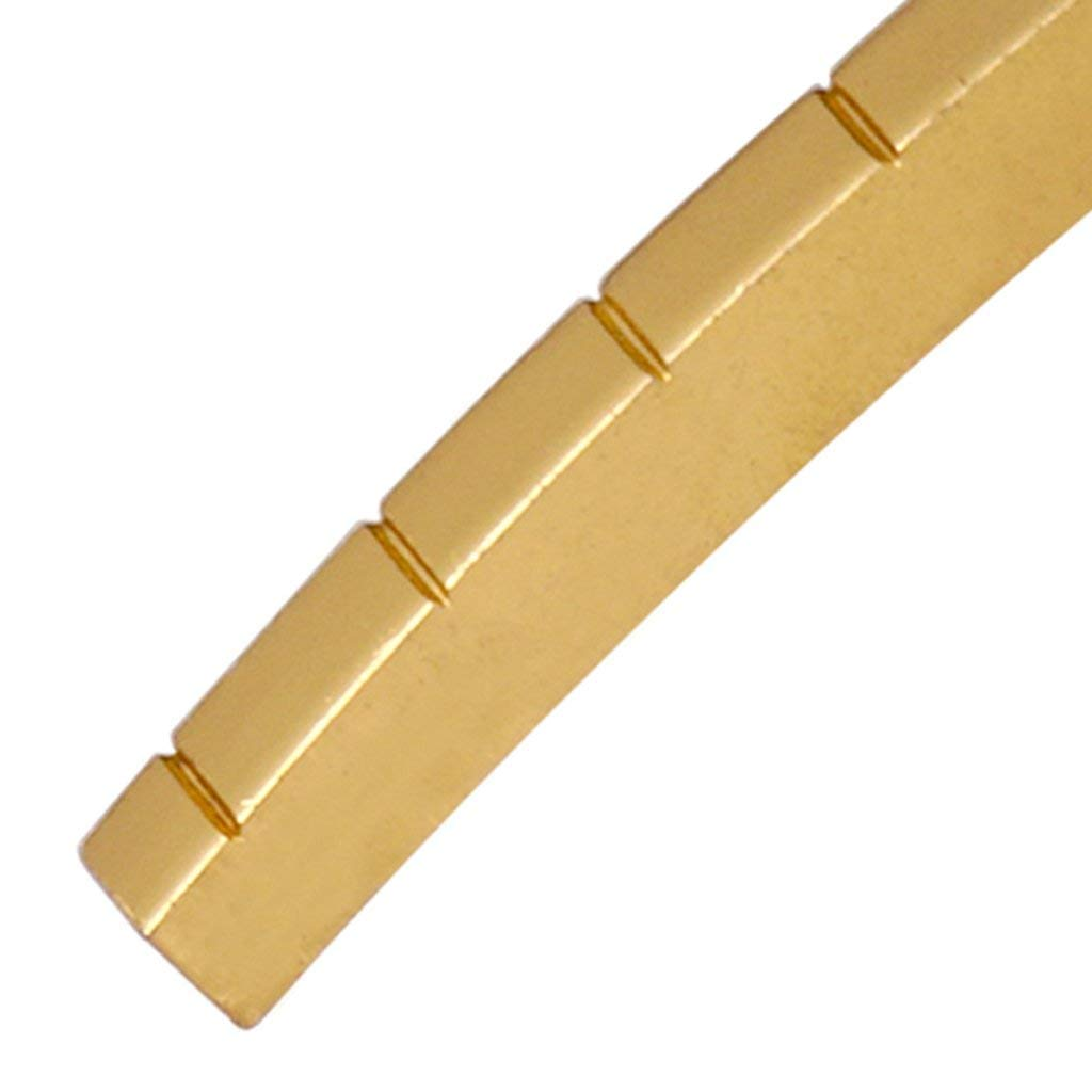 6 String Slotted Brass Nut suit for ST Strat Telecaster Electric Guitar Replacement Parts 43mm
