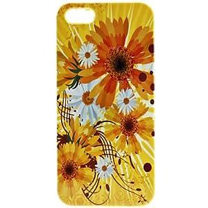 Procesamiento de dos días -Caso duro del patrón de flor amarilla de 5/5s iphone