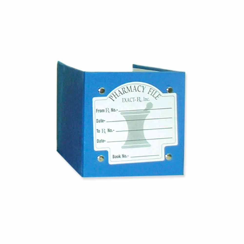 PDC Healthcare RX-FILE Rx File Folder, Durable Outer Cover, Holds 1000 Rx Slips, Punch 2 Apart, 7 1/4 x 4 3/4, Blue