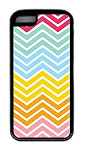 for iphone 4/4s Case Chevron Colors TPU Custom for iphone 4/4s Case Cover Black