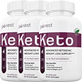 Purest Keto - Advanced Ketosis Weight Loss - Premium Keto Diet Pills - Burn Fat for Energy not Carbs (3 Month Supply)